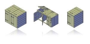 bouwtekening kliko ombouw 3 containers