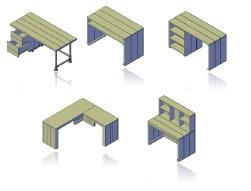 steigerhouten bureau zelf maken bouwtekening